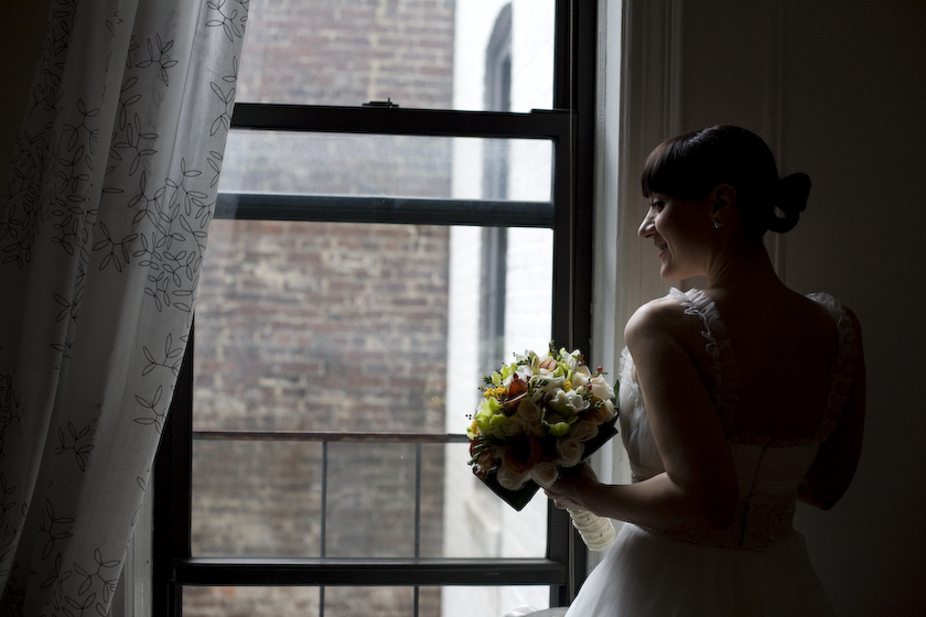 matrimonio new york sposa alla finestra