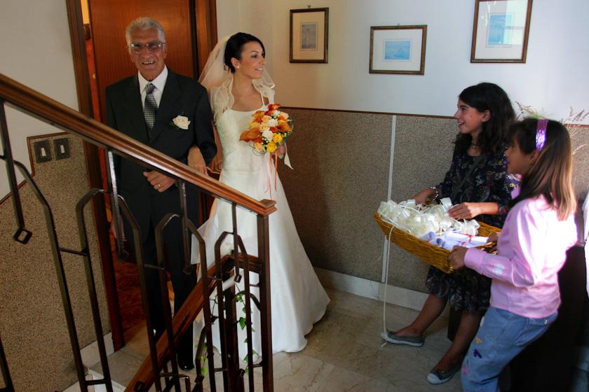 sposa milano con il papà