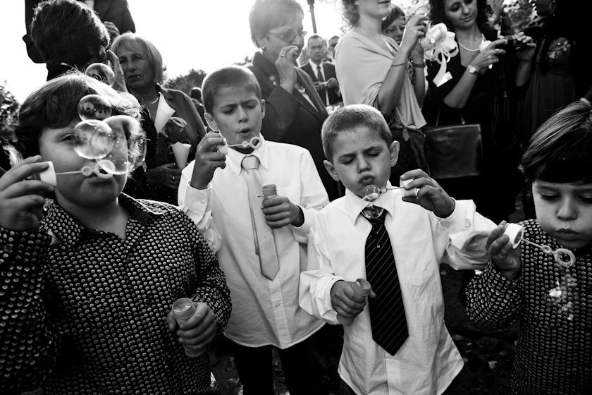 bambini nel servizio fotografico matrimonio