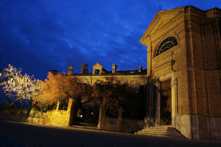 chiesa san sebastiano po notte