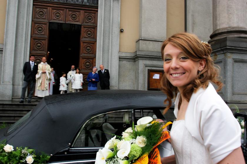 la sposa arriva in chiesa sant'alfonso torino