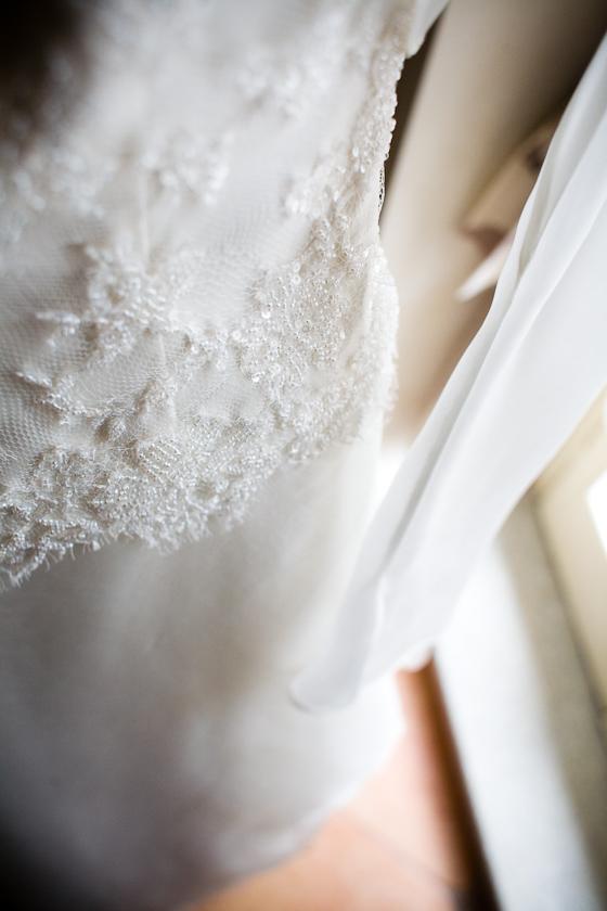 foto particolare abito da sposa