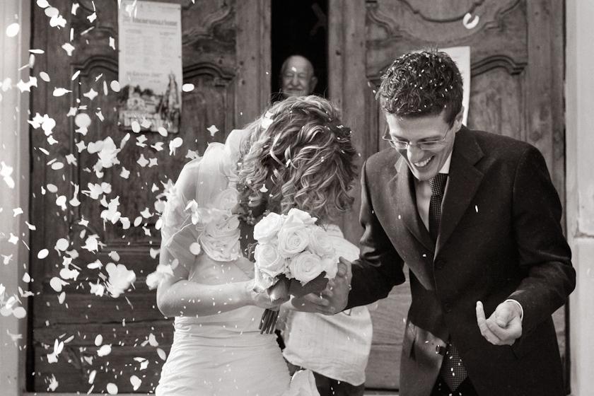 foto nozze novara lancio riso