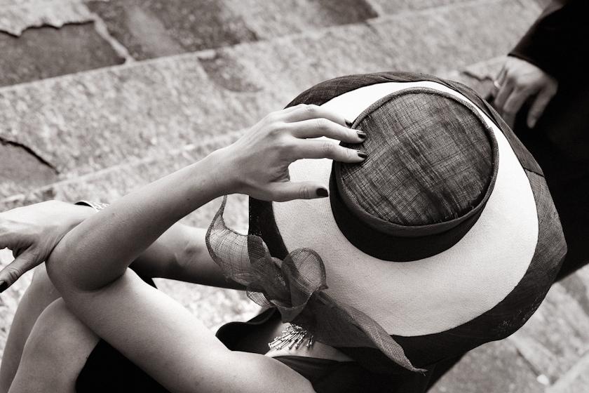cappello elegante sposa milano