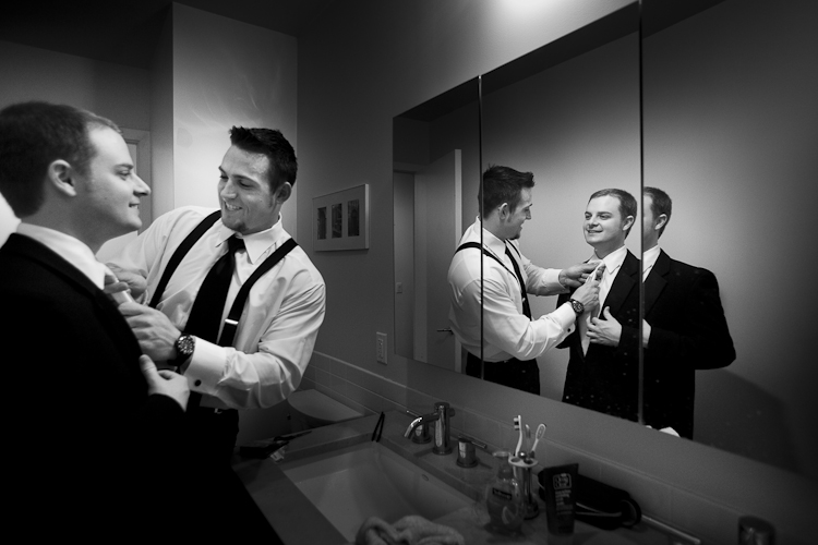 groom preparation photo