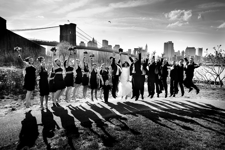 beautiful wedding group picture in america
