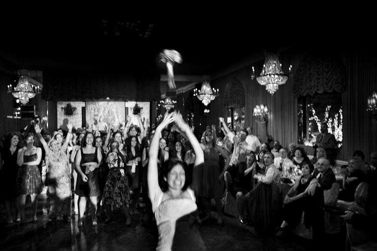 bouquet lancio foto matrimonio