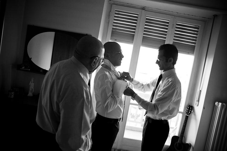 foto matrimonio preparazione sposo