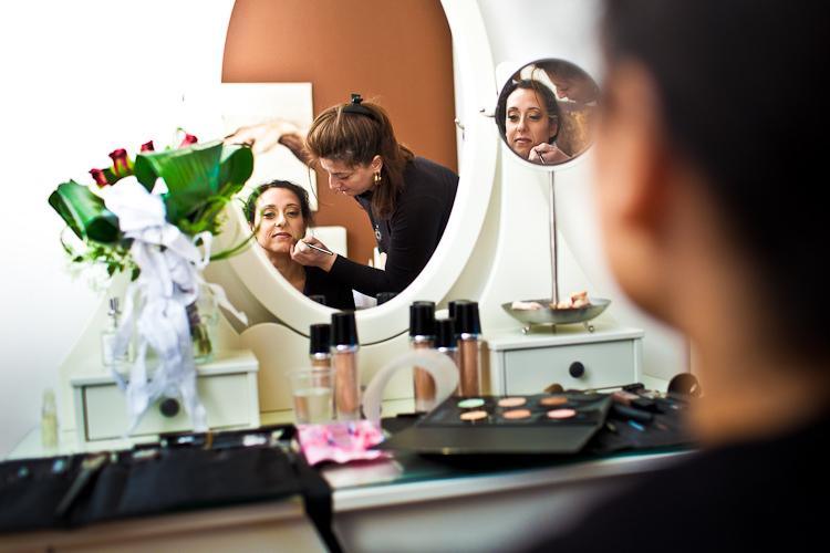 foto preparazione sposa venaria