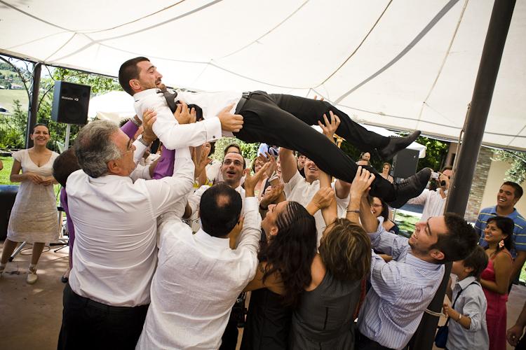 lancio dello sposo in cielo